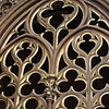 Arched window in Notre Dame