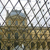 Photo taken from inside Louvre pyramid