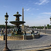 Place de la Concorde ...Largest Public Square in Paris.  This is where guillotine was placed for many notable beheadings....notably Queen Marie Antioinette.  In the 1990's Egypt gave obelisk from Luxor to France.