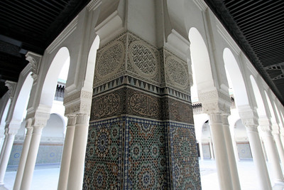 Pillar and columns, Paris Mosque
