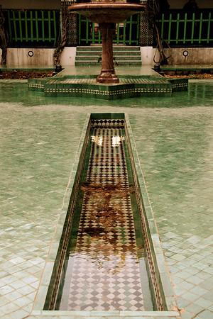 Fountain pool, Paris Mosque