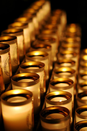 Cathedral candle rows, Notre Dame de Paris – Paris, France