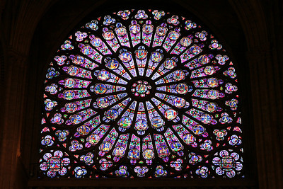 Stained glass, Notre Dame de Paris