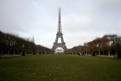 Eiffel Tower across Champ de Mars