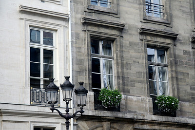 Apartment windows, Rue Royale