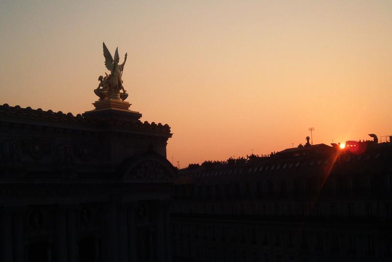 L'Opera in Paris in the morning