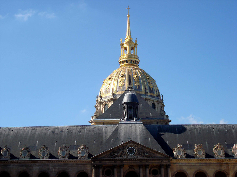 Les Invalides in Paris France