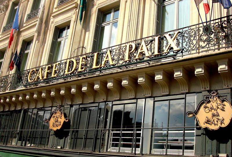 Cafe De La Pais in Paris near La Opera