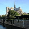 Notre Dame Cathedral in Paris France from Left Bank