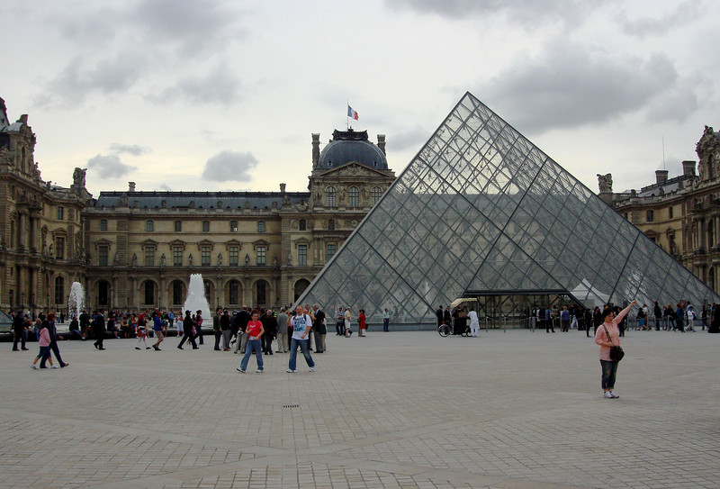 Outside the Louvre in Paris France 3
