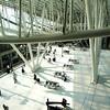 Inside Charles de Gaulle Airport near Paris France