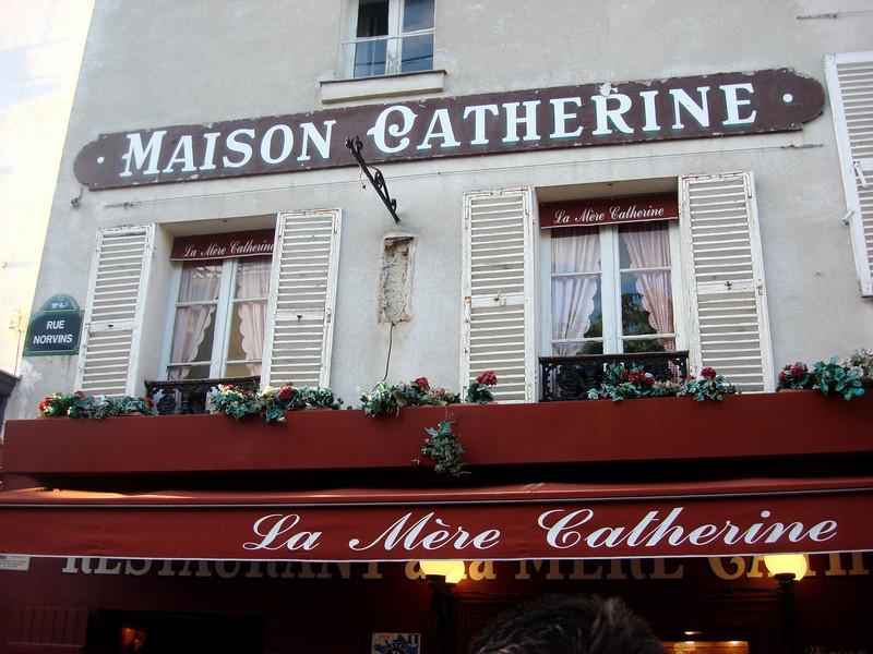 La Mere Catherine Restaurant at Montmartre in Paris