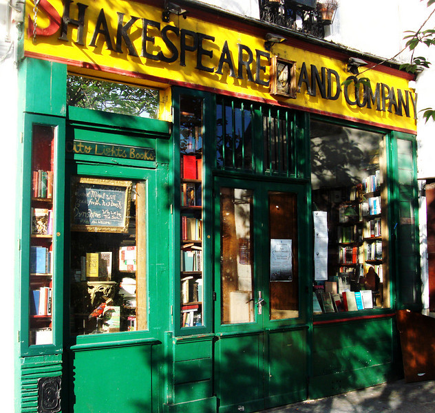 Shakespeare Bookstore on Left Bank in Paris France