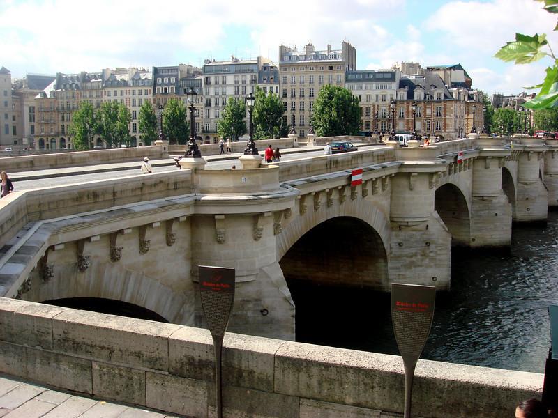 Pont Neuf Bridge in Paris from Left Bank