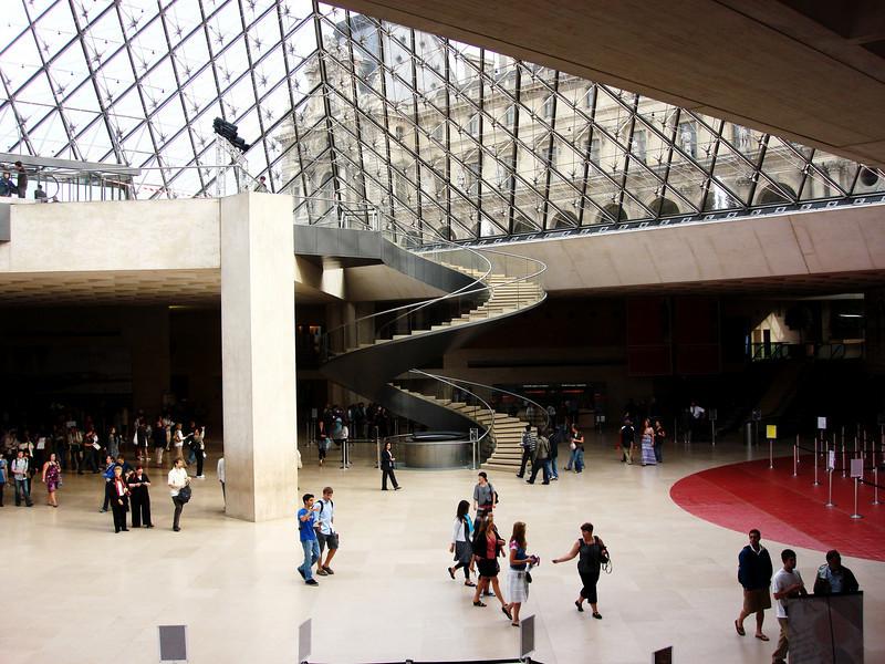 Inside the Louvre in Paris France