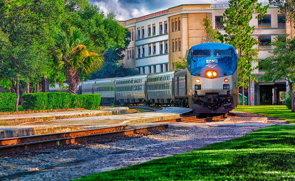 "WPP1333  ""Amtrak Train in Central Park"""