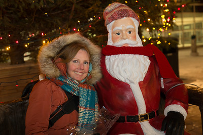 Leslie With Santa