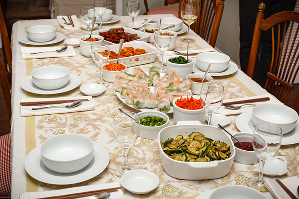 Tonight, Valerie serves up a spread of Vietnamese and Korean, with Bibimbap being her new thing since Yuna showed her how to make it