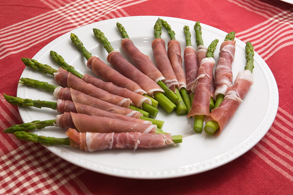 ...asparagus wrapped in prosciutto...