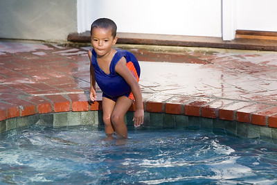 Jayden is still in the pool