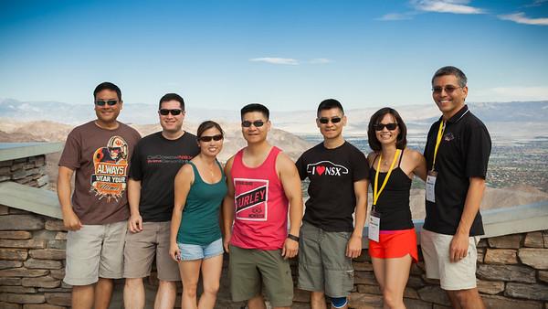 Randy (FuryNSX), Lud, Bryana (BryziNSX), Frank (NsXMas), Kelvin (PHOEN$X), Valerie, Eric (akira3d), and a drone (Photo by Joe Sowden)