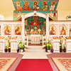 Orthodox Church decorated for Pascha
