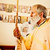 Orthodox Priest Carrying Paschal Candle