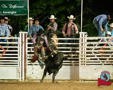 Southern Rodeo Company  -  32nd Annual Shady Dale Rodeo, Bull riding Friday June 5, 2015