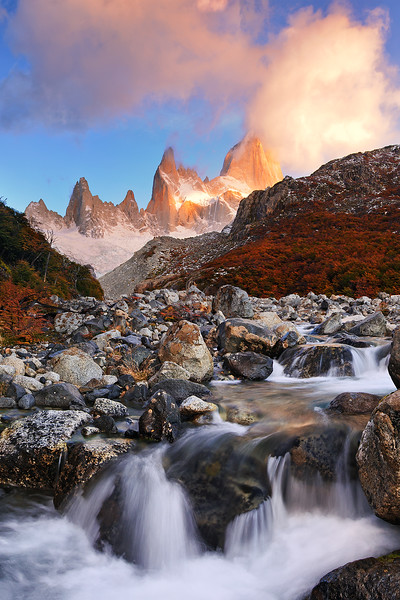 #292 Fitz Roy, Rio Blanco, Los Glaciares Natl. Park, Argentina