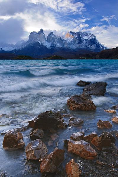 #297 Los Cuernos, Lago Pehoe, Torres del Paine Natl. Park, Chile