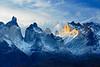 #296 Los Cuernos Sunset, Torres del Paine Natl. Park, Chile