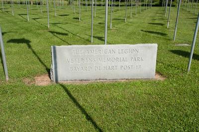 North America, USA, Wisconsin. Richland Center, American Legion, Veteran's Memorial Park, Bayard de Hart Post 13, Informational Monument