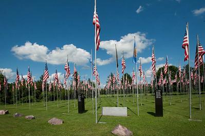 North America, USA, Wisconsin. Richland Center, American Legion, Veteran's Memorial Park, Bayard de Hart Post 13