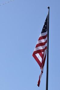 US Flag at the Veterans Memorial. Ennis,Montana. 7.09