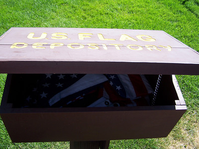 US Flag Depository at American Legion Post 43, Jackson Hole, Wyoming. 8.08
