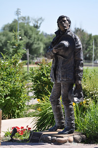 "A western tribute. Veteran's Memorial. Ennis, Montana.  "" My hat's off to you."" 7.09"