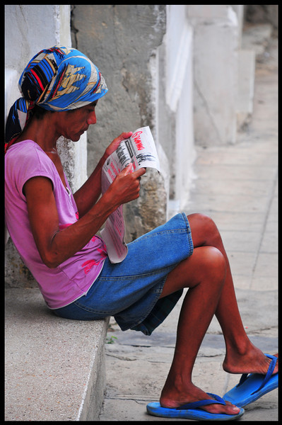 Enjoying the daily news in CUBA