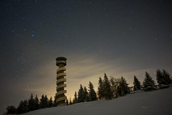 Night photo, Photography, Stefan Meyer Photography. Tour du Moron, Moutier, Court, Bienne, Chasserale. Etoiles, voie lactée