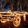 Ghost Cart - Sparkler painting. This cart was large so took 4 sparklers to complete.<br /> Total exposure time over 6 minutes