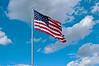God Bless America Flying Over The Green.