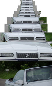 Pentax K20D AF.C autofocus test Car at 100km/h over 100m with 135mm focal length 100% crop pixels