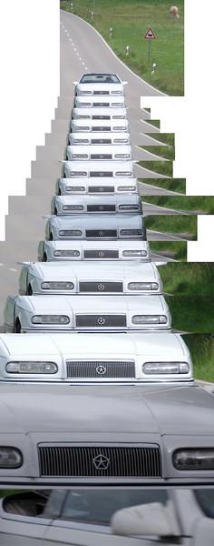 Pentax K-7 AF.C autofocus test Car at 100km/h over 100m with 135mm focal length 100% crop pixels