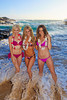Austraiian beauties, Erin, Sheridyn, and Becky at Eternity Beach in Hawaii.