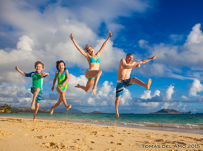 Family fun at lanikai Beach