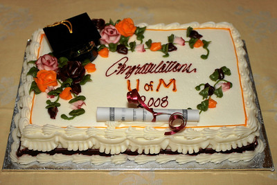 Celebration Cake for Graduation of Byung-Dong Pak, Class of 2008.