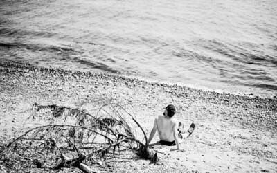 Catching Sun on Alki Beach