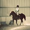 Karrah riding.