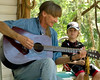 Florida folk singer and son. Homosassa, Florida.