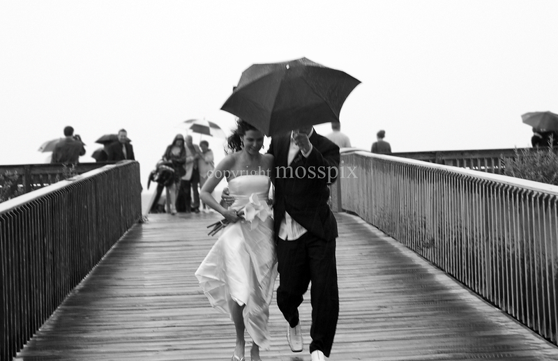 Wet and windy wedding