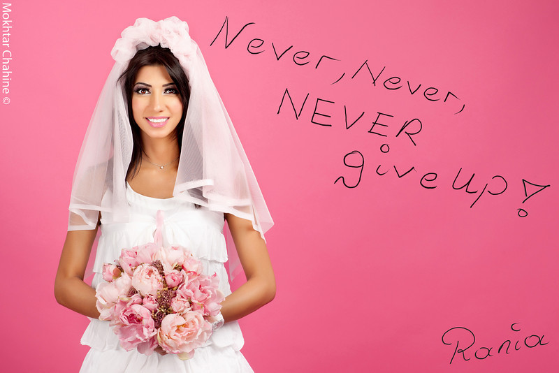 """The Bride""<br /> <br /> Never,Never, NEVER GIVE UP !!!<br /> <br /> Photography : Mokhtar Chahine<br /> Photography Concept & Direction : Hala Dakhil<br /> Make-up & Hair : Inas Hammoud"